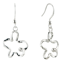 Earrings - plum blossom dangle sterling silver 925  fish hook earrings Image.