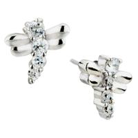 Earrings - vivid dragonfly crystalstud earrings Image.