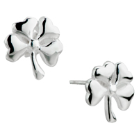 Earrings - silver petal flower sterlingstud earrings Image.