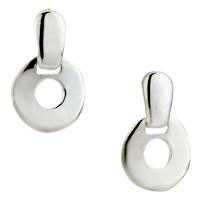 Earrings - silver circle sterlingstud earrings Image.