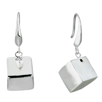 Earrings - a little box dangle sterling silver 925  earrings Image.