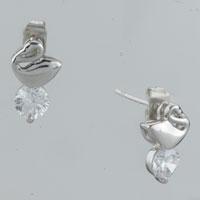 Earrings - goose clear crystal cubic zirconia round earrings re stud Image.