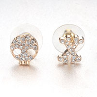 Earrings - fashion halloween skull cross stud earrings Image.