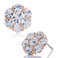 Earrings - sparkle april birthstone clear crystal flower stud fancy earrings Image.