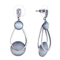 New Year Deals - beautiful pale glass ring dangle earrings Image.