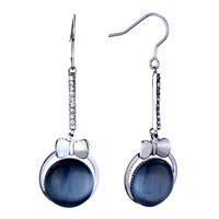 New Year Deals - elegant bow black ball earrings gift Image.