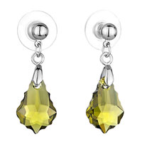 Earrings - mothers day gifts classic olivine swarovski swarovski crystal swarovski crystal baroque drop dangle earrings Image.