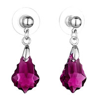 Earrings - mothers day gifts classic fuchsia swarovski swarovski crystal swarovski crystal baroque drop dangle earrings Image.