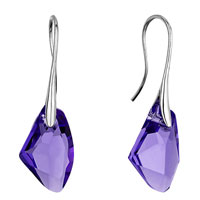 Earrings - mothers day gifts classic february birthstone tanzanite swarovski crystal crystal galactic drop focal dangle earrings Image.
