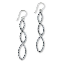 Sterling Silver Jewelry - 925  sterling silver becket bridle dangle earrings Image.