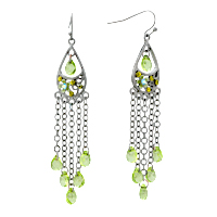 Earrings - fashion vintage drop dangle crystal chandeliers fish hook earrings Image.