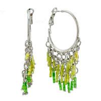 Earrings - circle hanging spike filigree vintage antique dangle earrings Image.