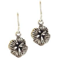 Earrings - hot 925  sterling silver lily pad vintage flower dangle earrings Image.