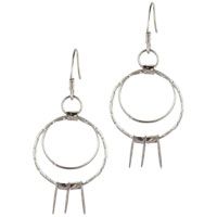 Earrings - sterling silver hoop oval earring dangle earrings for fashion women Image.