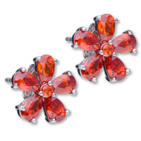 Earrings - flower july birthstone 925  sterling silver earring stud earrings Image.
