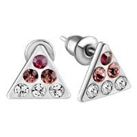 Earrings - triangle february birthstone earrings crystal stud Image.