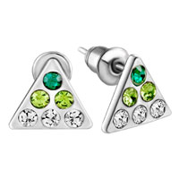 Earrings - triangle august birthstone earrings crystal stud Image.