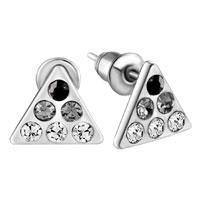 Earrings - triangle black crystal earrings stud Image.