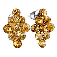 Earrings - swarovski crystal november birthstone stud earrings Image.