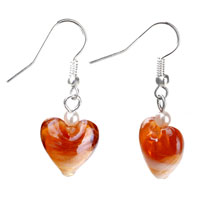 Earrings - brown heart earrings for women Image.