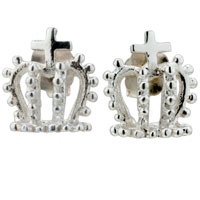 Sterling Silver Earrings - classic crown studded 925  sterling silver jewelry fancy earrings Image.