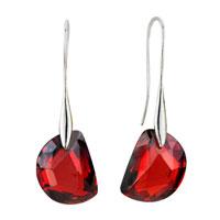 Earrings - july red semi circle swarovski crystal earrings Image.