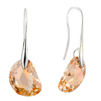 Earrings - champagne semicircle swarovski crystal earrings Image.