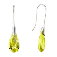Earrings - november yellow leaf elegant swarovski crystal earrings Image.