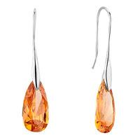 Earrings - november yellow angel pave teardrop swarovski crystal earrings Image.