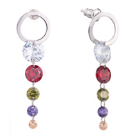 Earrings - hoop dangle colorful crystal by earrings Image.