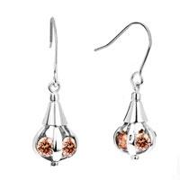 Earrings - nov birthstone topaz yellow crystal bottle dangle hook earrings Image.