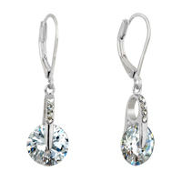 Earrings - sparkle clear crystals april birthstone dangle earrings for women Image.