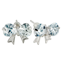 Earrings - butterfly swarovski crystal earrings Image.