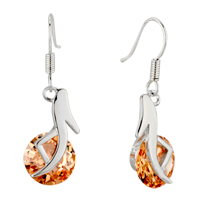 Earrings - november yellow high heeled shoes crystal dangle earrings Image.