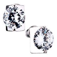Earrings - clear february birthstone crystal stud earrings Image.