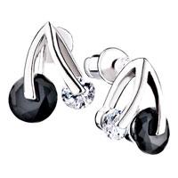 Earrings - cherry crystal stud earrings Image.