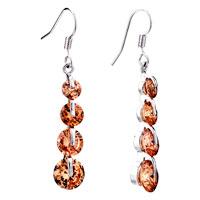 Earrings - november yellow birthstone dangle crystal earrings Image.