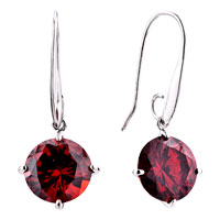 Earrings - round july birthstone crystal dangle earrings Image.