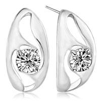 Earrings - april birthstone crystal hoop earrings Image.