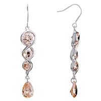 Earrings - swirl november birthstone topaz crystal dangle drop earrings Image.