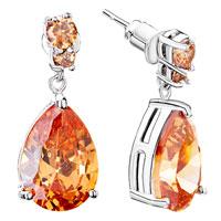 Earrings - november birthstone topaz crystal round drop dangle earrings Image.