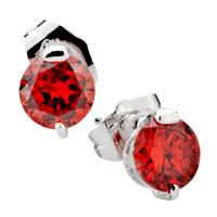 Earrings - fashion july birthstone raindrop red cubic zirconia cz earrings Image.