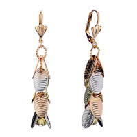 Earrings - lovely pupa like material dangle cluster earrings gift Image.