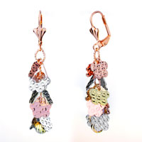 Earrings - small flowers dangle floral earrings Image.