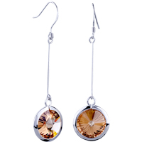 Sterling Silver Jewelry - june crystal silver circle earrings 925  sterling Image.