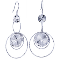 Sterling Silver Jewelry - number round pattern dangle earrings 925  sterling silver Image.