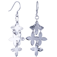 Sterling Silver Jewelry - clover pattern dangle earrings sterling silver jewelry  925 Image.