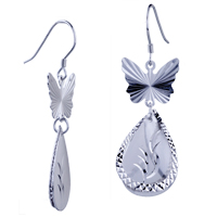 Sterling Silver Jewelry - pattern butterfly earrings 925  sterling silver Image.