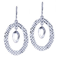 Sterling Silver Jewelry - double round pattern earrings 925  sterling silver Image.