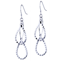 Sterling Silver Jewelry - drop round pattern earrings 925  sterling silver Image.
